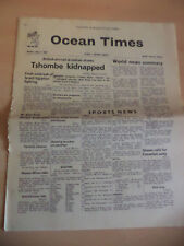 OLD VINTAGE OCEAN TIMES NEWSPAPER MAGAZINE 1960S CUNARD HMS QUEEN MARY 2 july
