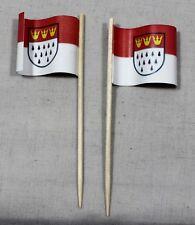 Party-Picker Köln 50 St. Profiqualität Dekopicker Flagge Papierfähnchen
