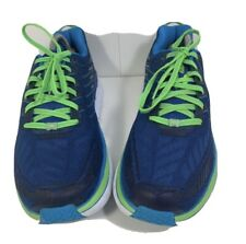 Hoka Clifton 4 Men's Running Athletic Shoes Sneakers Size 8.5 Blue Green