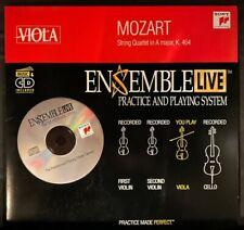 Viola: Ensemble Live String Quartet Mozart K. 464, Cd with Sheet Music