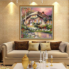 5D Riverside House DIY Diamond Embroidery Painting Cross Stitch Home Decor