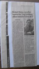 Obituary Boston Globe 1/12/2015 Robert Stone 77 Novelist Known For Dog Soldiers