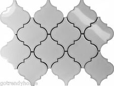 11.5SF White Porcelain Moroccan Pattern Mosaic Tile Kitchen Backsplash Pool Spa