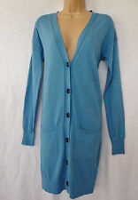 BNWT NEXT Ladies denim mid blue longline long boyfriend style cardigan pockets