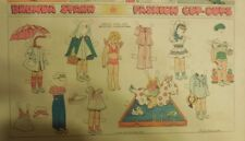 Brenda Starr Sunday with Large Uncut Paper Dolls from 8/9/1942 Full Size Page