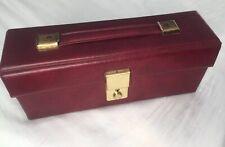 Vintage WHSmith Audio Casette Case Holder Box Burgundy Great Condition