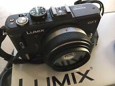 Panasonic LUMIX DMC-GF1C 12.1MP Digital Camera - Black with ASPH 20mm Lens, UV