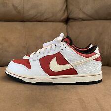 2005 Nike WMNS Dunk Low White/Varsity Red Black 309324-164 Size M5.5/W7