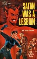 Satan was A Lesbian Vintage 60s Pulp Fiction Poster, Home Decor, Fun Print Gift