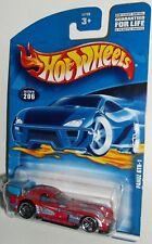 Hot Wheels 2001 Collector #206 Panoz GTR-1 Red Blue Fin Interior PR5s 53735