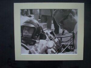 JIm Clark/Colin Chapman picture from an old Pirelli  book.Mounted.