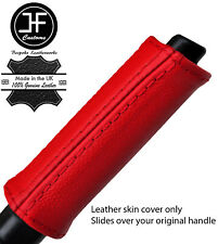 RED REAL LEATHER HANDBRAKE HANDLE COVER FOR NISSAN 300ZX Z32 1989-1996