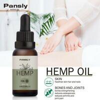 PANSLY Hemp Oil Pain Relief Anxiety Sleep Anti Inflammatory Extract Drops 3000mg