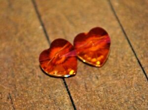 New 2 pieces of Swarovski Crystal Pendants - 12mm Astral Pink Heart - A4728c