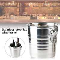 Stainless Steel Ice Bucket Durable Champagne Wine Cooling Wedding Party KTV Bar