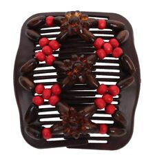 Trend African Hairclip Haarklammer Haargreifer Butterfly Holzdesign Rot