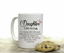 Daughter Dictionary Definition Coffee Mug Gift 15 oz Coffee Cup from Mom Dad