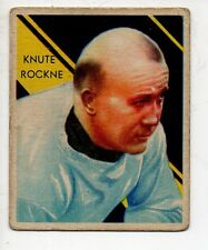 1935 National Chicle Football Card #9 Knute Rockne-Notre Dame
