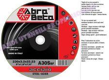 DISCO ABRASIVO  ABRA BETA  DA TAGLIO SMERIGLIATRICE 230 X 3,2mm ACCIAIO 25 PEZZI