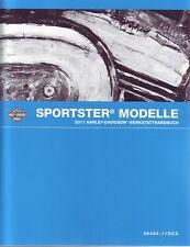 HARLEY Werkstatthandbuch 2011 Sportster XL DEUTSCH 99484-11DEA Reparaturhandbuch