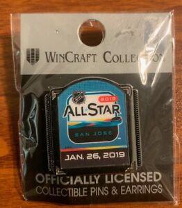 Wincraft San Jose Sharks All-Star Game Jan. 26,2019 Pin Free Shipping