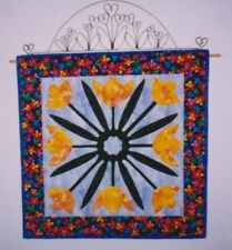 "Quilt and Applique Pattern - Spring Wallhanging - 18 1/2"" Square"