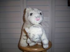 Plush white Tiger with baby cub