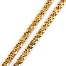 18k Gold Plated Stainless Steel Curb Cuban Link Chain Men's Necklace 7mm