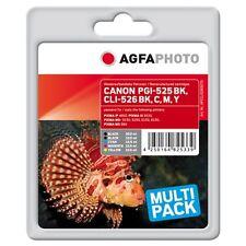 APCCLI526SETD-PGI-525-CLI-526 CARTUCCE RIGENERATE AGFAPHOTO PER CANON PIXMA MG52