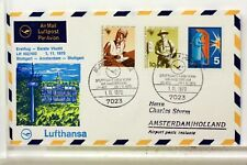 LUFTHANSA FIRST FLIGHT 1° VOL 1970 AMSTERDAM STUTTGART   COVER F33