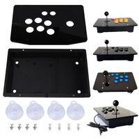 DIY Handle Arcade Game Joystick Acrylic Panel + Case Shells Set Kits Replace