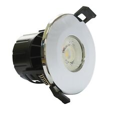 LED Chrome Fire Rated 8 Watt Dimmable IP65 CCT Colour Changing Downlight