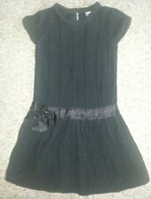 Cherokee Sparkly Black Short Sleeved Knit Dress Girls Size 2T