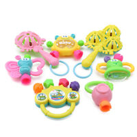 7Pcs Newborn Toddler Baby Shaking Bell Rattles Teether Toys Kids Hand Toy MA