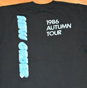 *1986 NEW ORDER* vtg rock concert tour new-wave tee shirt (L) 80s Joy Division