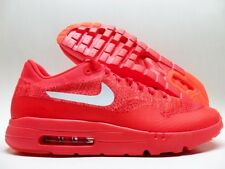 NIKE AIR MAX 1 ULTRA FLYKNIT BRIGHT CRIMSON/WHITE-RED SIZE MEN'S 13 [843384-601]