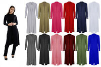 New Womens Ladies Long Sleeve Maxi Boyfriend Cardigan Open Floaty 8-26