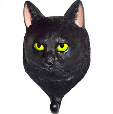 BLACK CAT COAT HOOK; Clothes / Door / Wall Hanger / Decorative Hook NEW