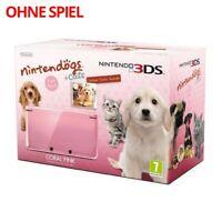 Nintendo 3DS - Konsole #Coral Pink Nintendogs Edition ohne Spiel mit OVP