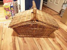 More details for optima john lewis luxury 4 person picnic set basket hamper empty straps chains