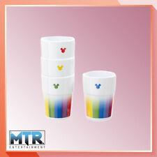 More details for disney mickey mouse rainbow melamine tumbler set