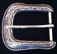 SIMPLE ANTIQUE SILVER WESTERN COOL COWGIRL RODEO BELT BUCKLE BOUCLE CEINTURE