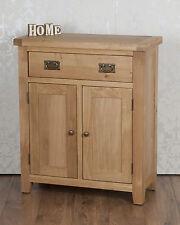 Chunky Solid Oak Harrogate Natural Slim 2 Door Drawer Sideboard Cabinet Cupboard