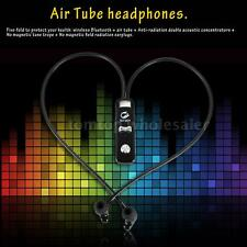 Radiation Free Bluetooth Earphone Air Tube Headset Sport Earbuds Earphone