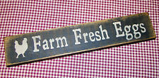 "Beautiful Rustic Primitive Sign ""Farm Fresh Eggs"" Country Home Decor"