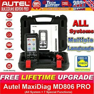 AUTEL MD806 Pro OBD2 All Systems Auto Scan Diagnostic ABS SRS EPB BMS DPF MD808