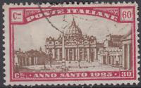 Italy Regno - 1924 Anno Santo - Sassone n. 172 used  cv 60$