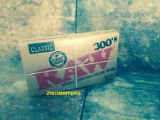 RAW 300's  HEMP Natural unbleached Cigarette Rolling Papers 1 1/4 Size 1-Pack