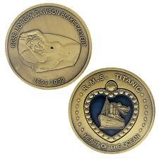 RMS Titanic Heart of the Ocean Nude Rose Dawson Challenge Coin