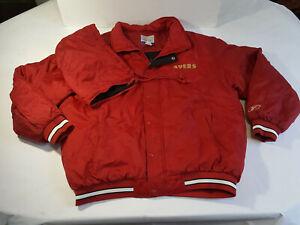 Vintage REEBOK Jacket W/ Removable Hood SF 49ers SAN FRANCISCO Mens XL Rare 90s